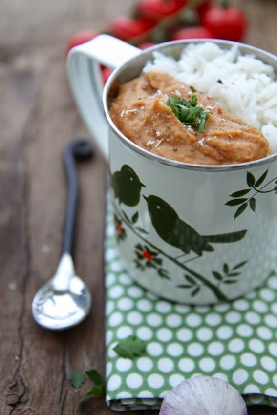 Petits repas entre amis: Purée de lentilles corail & aubergine à l'indienne