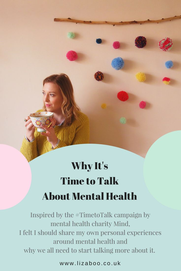 Time to talk is a campaign aimed at making us all open up about our mental health. I've shared my experiences in the hope to start some conversations.