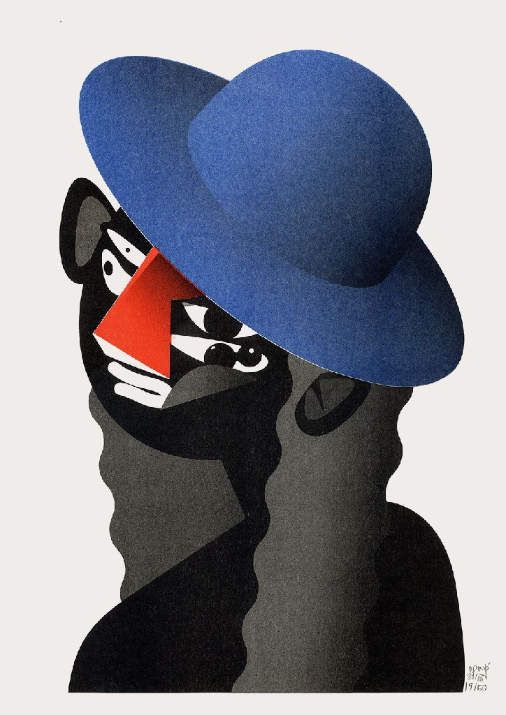 Stylistic reinvention for Guillaume Kashima with characterfully warped graphic portraits.