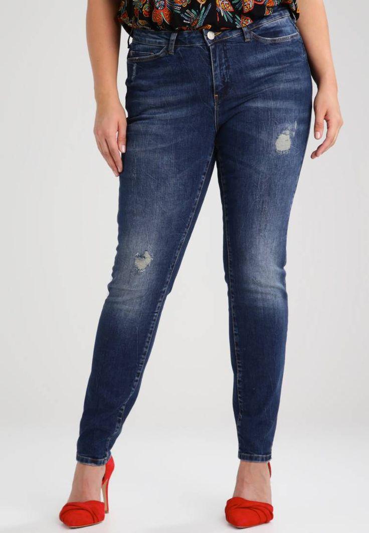 Junarose. JRFIVE  - Jeans slim fit - medium blue denim. Avvertenze:Lavaggio a macchina a 40 gradi,Restringimento massimo del 5%. Lunghezza interna della gamba:81 cm nella taglia 50. Composizione:98% cotone, 2% elastan. Lunghezza della gamba esterna:107 ...