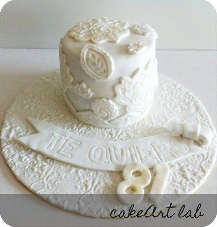 Elegant Birthday cake for one person  Cake by CakeArtLab