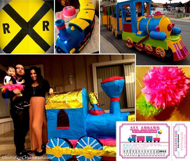 117 best train party images – Choo Choo Train Birthday Invitations