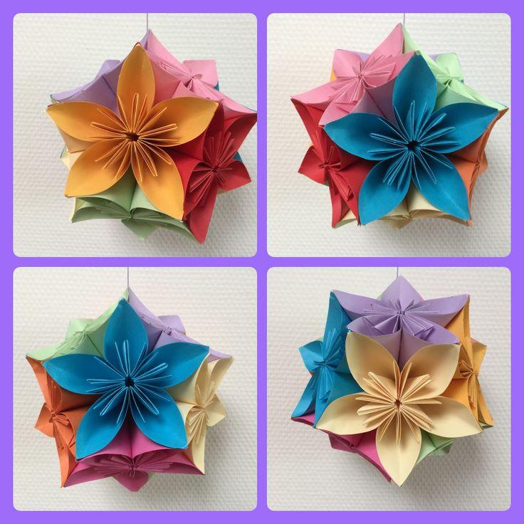 De kusudama is favoriet in veel bovenbouw groepen. Daarom bij deze een nieuwe. 'Vroeger, in mijn origami-tijd maakte ik deze kusudama ...