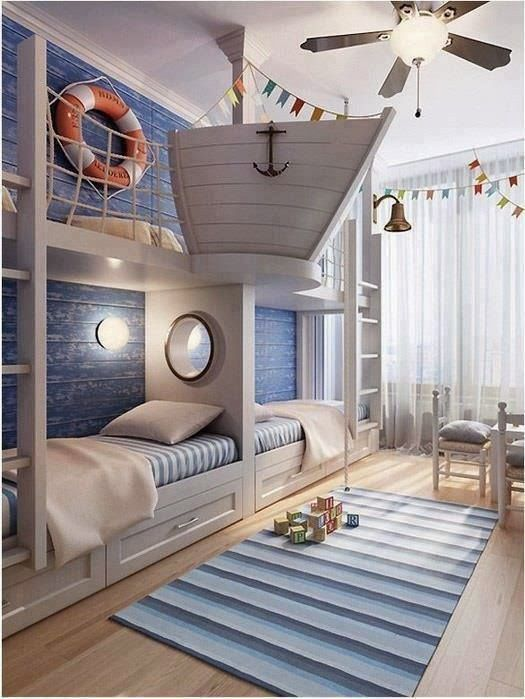 259 best Bunk Rooms images on Pinterest | Bunk rooms, Cabin bunk beds and  3/4 beds