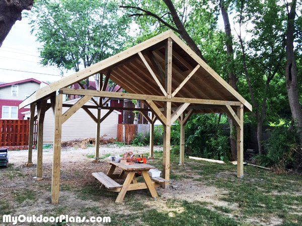 Diy 20x20 Pavilion Myoutdoorplans Free Woodworking Plans And Projects Diy Shed Wooden Playhouse Pergola Bbq In 2020 Pergola Plans Diy Diy Shed Plans Diy Shed