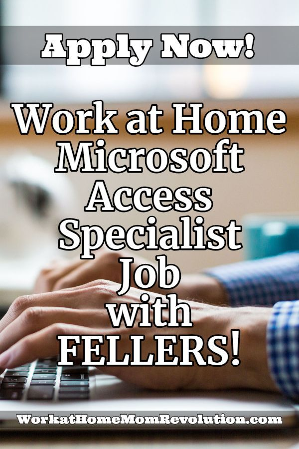 Work at Home: Full-Time Microsoft Access Specialist Job with