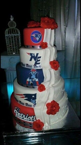 New England Patriots wedding cake