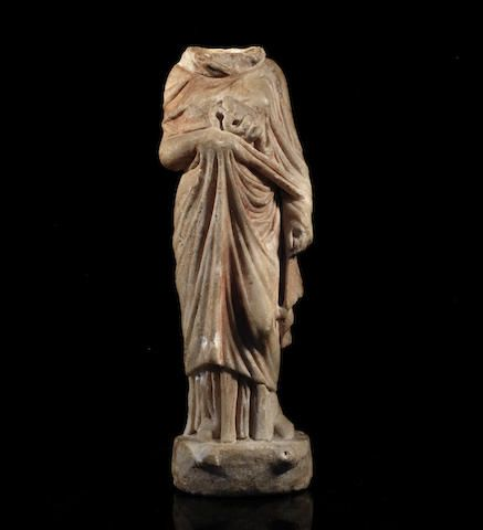 A Greek marble figure of Hygieia