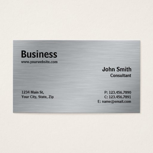 282 best coffee shop business cards images on pinterest coffee silver professional elegant metal modern plain business card colourmoves Images