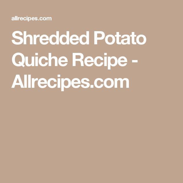 Shredded Potato Quiche Recipe - Allrecipes.com