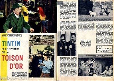 Document (Ref Cer 002) 02/1962 : CINEMA : TINTIN ET LA TOISON D OR (2 pages)