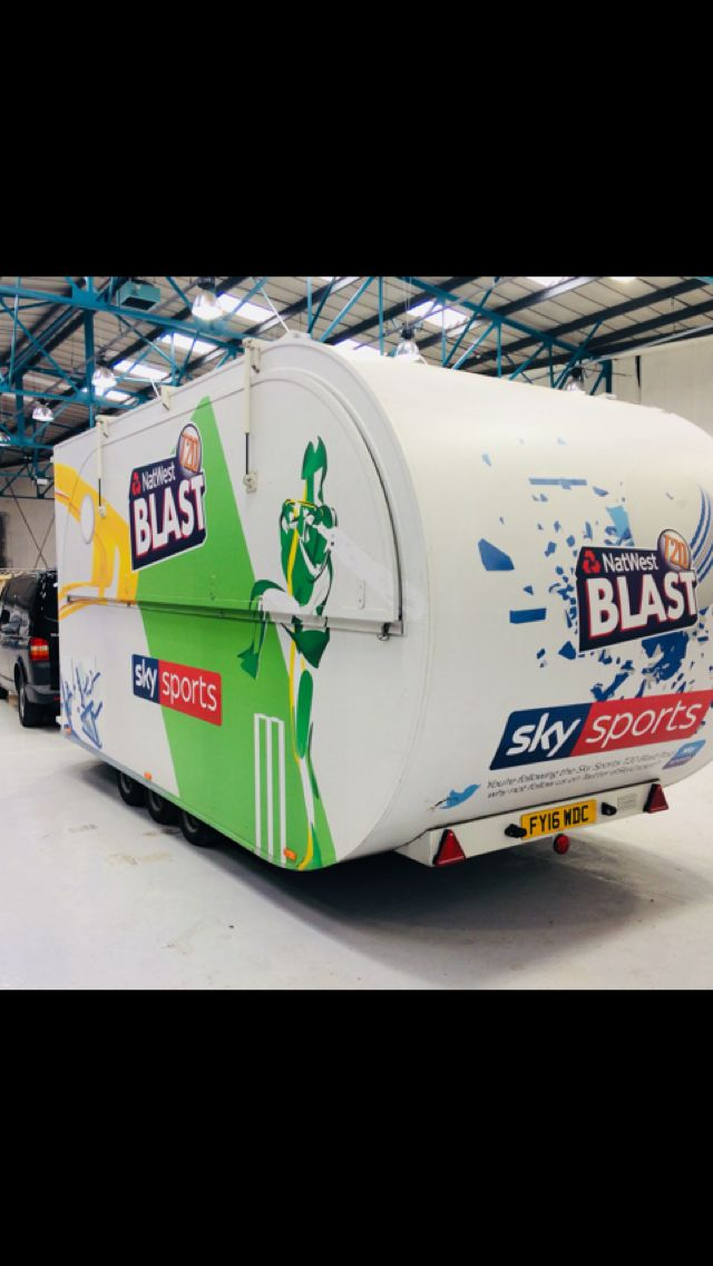 Sky Sports full colour digital printed POD Wrap by Wrap Graphics - www.wrapgraphics.co.uk #wrapping #branding #print #london #sky #sports #instagood @wrapgraphicsuk