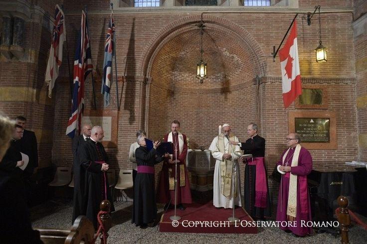 """""""Camminare insieme, attraverso la testimonianza concorde della carità"""" è questo l'imperativo che unisce cattolici e anglicani, come detto da Papa Francesco"""