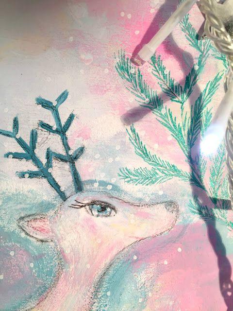 Christmas deer - Rosa e Turchese