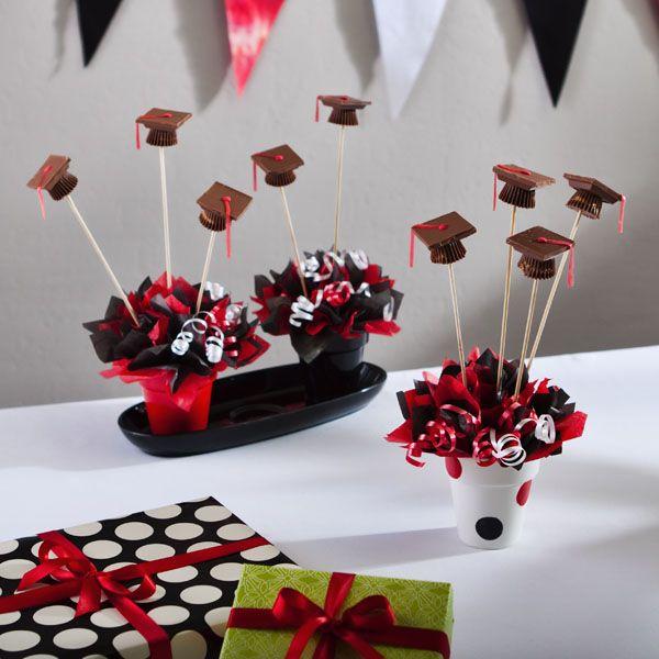 Red And Black Graduation Decorations Grad Party Ideas Graduation