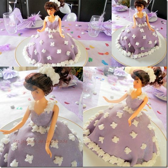 Les 25 meilleures id es concernant gateau barbie sur pinterest cake fondant tableau de Idee gateau anniversaire