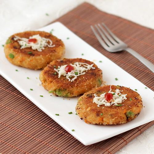 Bread Cutlet with Green Peas and Carrot- Kids Special Evening Snack