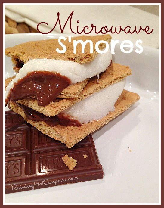 Microwave S'mores Recipe (Takes 15 Seconds!) - Raining Hot Coupons
