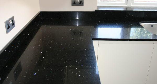 kitchen black sparkly work tops - Google Search