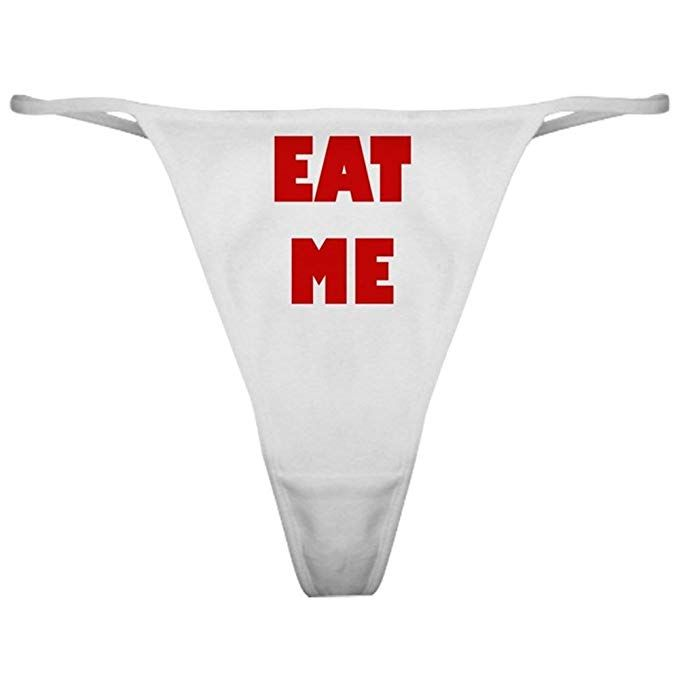 CafePress Runner Thong Underwear Funny Womens Panties
