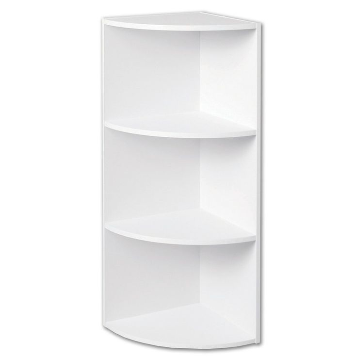 Closetmaid 4 shelf 11 5 corner laminate stacking storage canada wall mounted shelf and storage - Corner wall shelves lowes ...