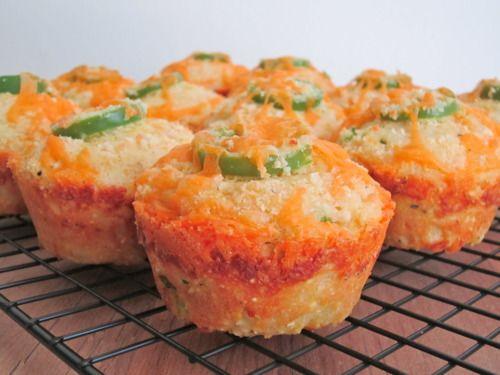 Jalapeno Cheddar Parmesan Cornbread Muffins | Cheese muffins, Jalapeno ...