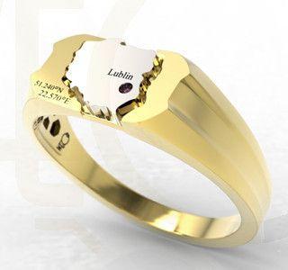Sygnet z żółtego złota / Signet ring made from yellow  gold / 2102 PLN #signet_ring #gold #zloto #jewellery #jewelry #man #bizuteria #sygnet