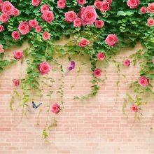 Lange 240 cm Bruiloft Decoratie Nieuwe 2016 DIY Kunstmatige Fake Silk Rose Bloem Wijnbladeren Opknoping Garland Wedding Home Decor(China (Mainland))