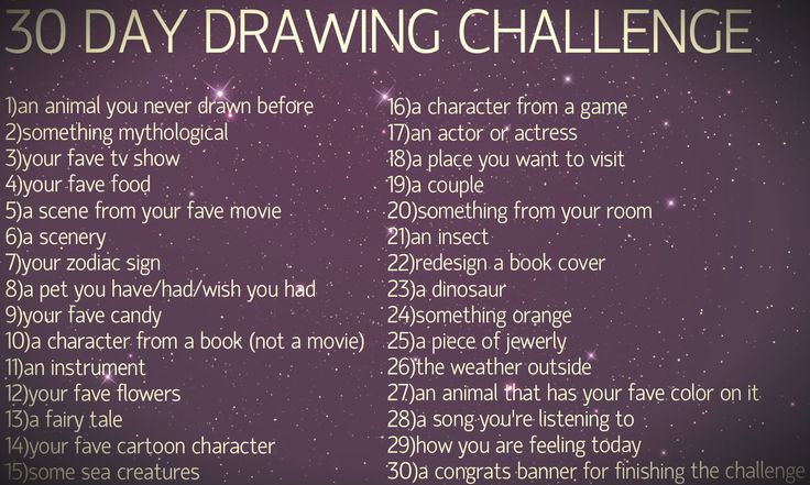 30 day Drawing Challenge- definitely doing this one :)
