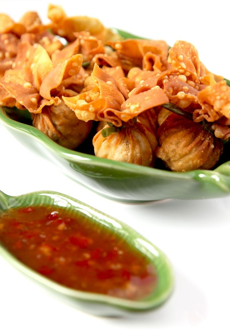 Ballotins thaïs frits au porc et kaffir