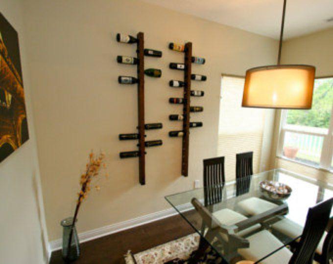 Las 25 mejores ideas sobre estantes de vino en pinterest - Revestir pared con madera ...