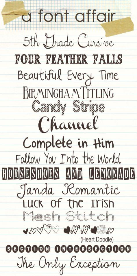 15 great free font downloads - Love Janda Romantic here