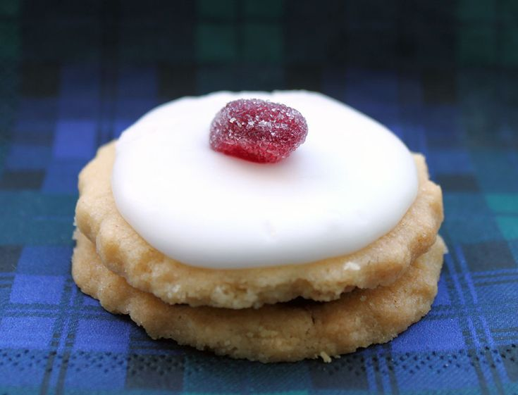 The Empire Biscuit, a Scottish favourite, contains jam and has a cherry on top. The biscuit was called a 'German biscuit' until the First World War, when it was given a patriotic new name.