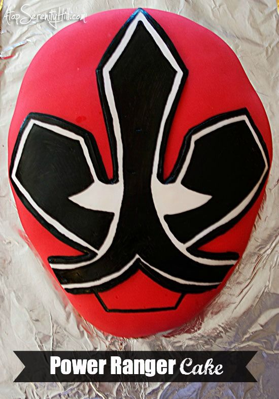 Power Ranger birthday cake • AtopSerenityHill.com