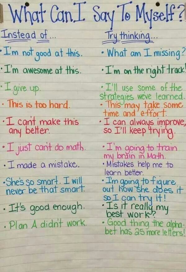Love this! So many negative thoughts get in the way of progress and learning
