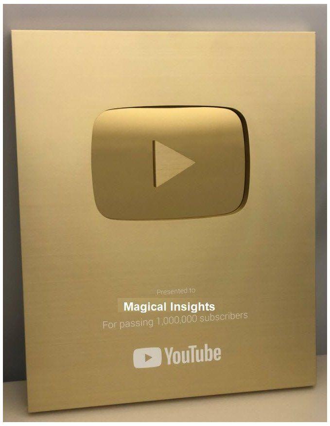 Gold Youtube Play Button Goldyoutubeplaybutton Gold Play Button Youtube Youtube Subscribers