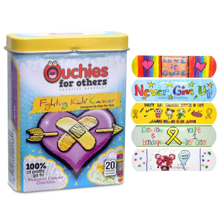 Ouchies for Others: Kids' bandages that help fight pediatric cancer