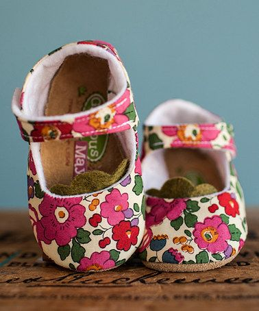 Another great find on #zulily! Red & Pink Liberty of London Red Betsy Mary Jane #zulilyfinds