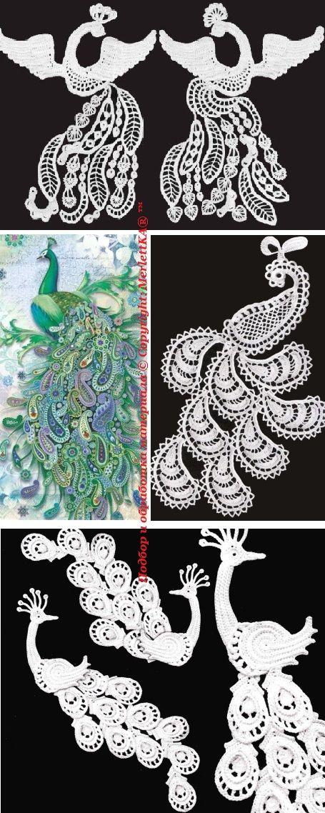 Вязание крючком - Жар - птицы