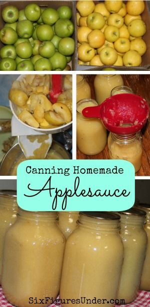 Step-by-step instructions for canning delicious homemade applesauce to enjoy all year long! | SixFiguresUnde.com