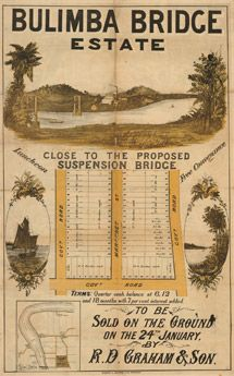 Poster Estate Map - Bulimba Bridge | State Library of Queensland Shop