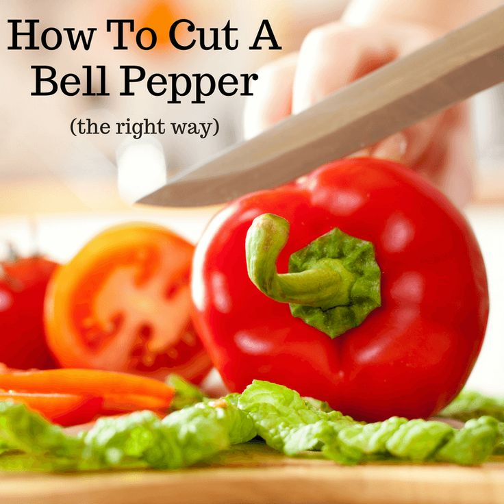 Cutting a bell pepper is easy and quick if you know the right technique. Watch the short video below to learn how to cut a bell pepper the right way.