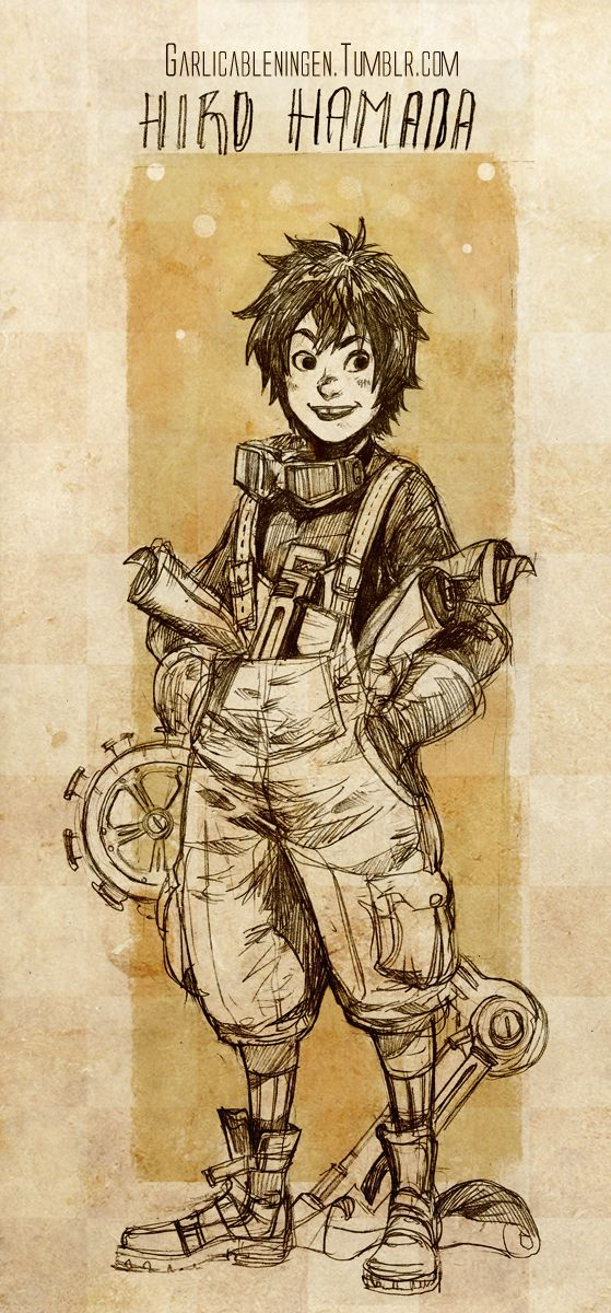 "Steampunk version of Hiro from ""Big Hero 6"" - Art by garlicableningen.tumblr.com"