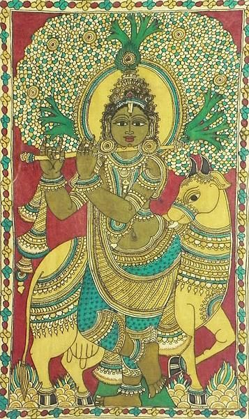 302 best images about kalamkari on pinterest peacocks for Asha mural painting