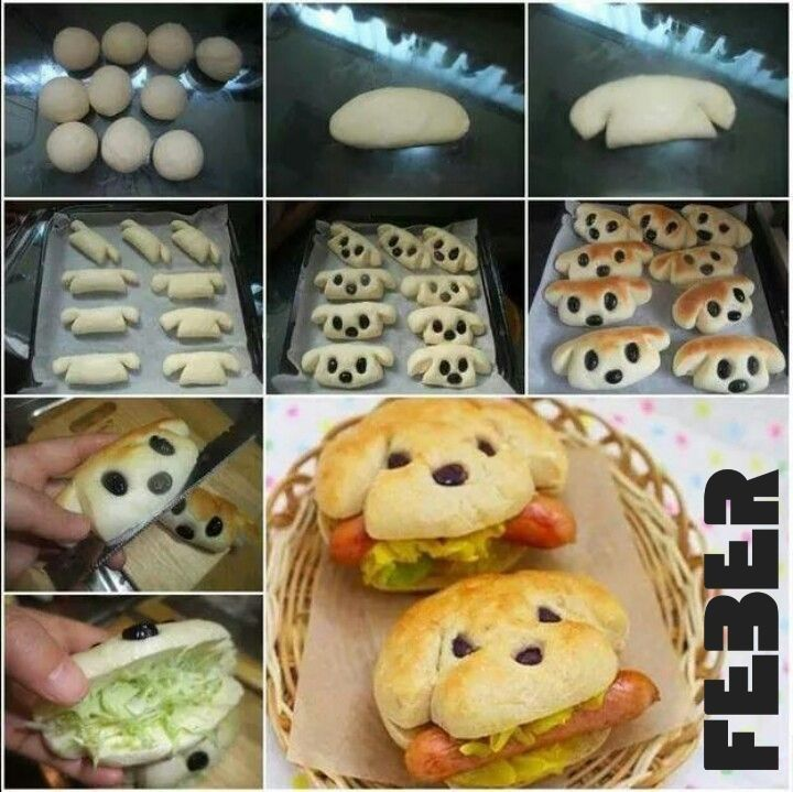 Making of hot dogs #puppy #buns