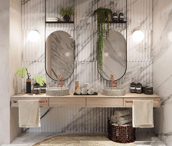 Villa Bodrum on Behance - bathroom
