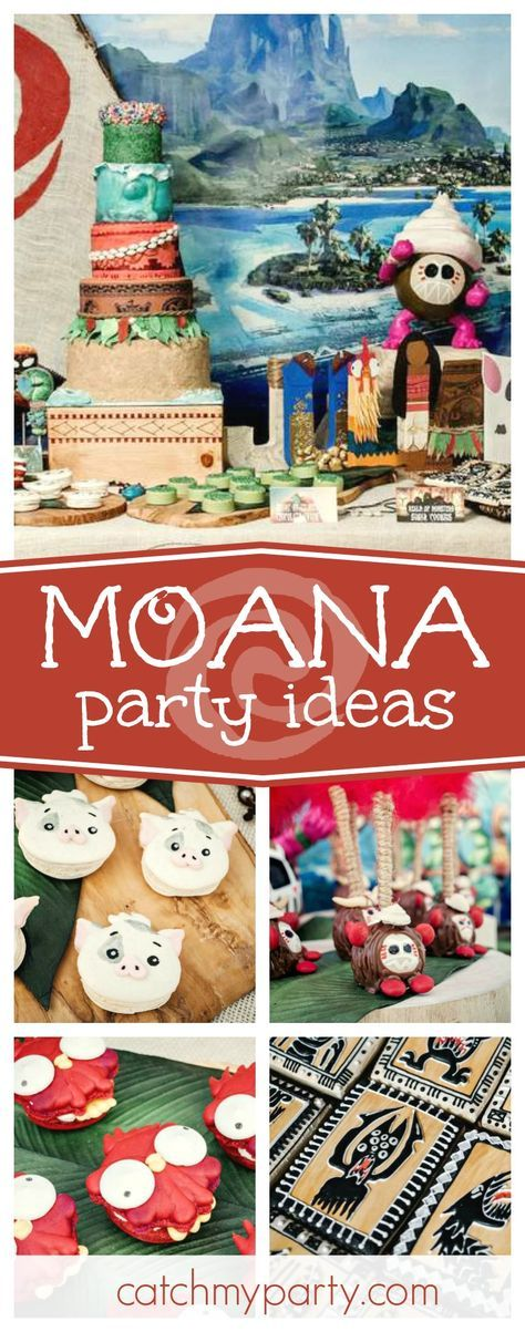 Take a look at this amazing Moana birthday party! Love the spectacular birthday cake with the glowing heart of Te Fiti. See more party ideas and share yours at CatchMyParty.com