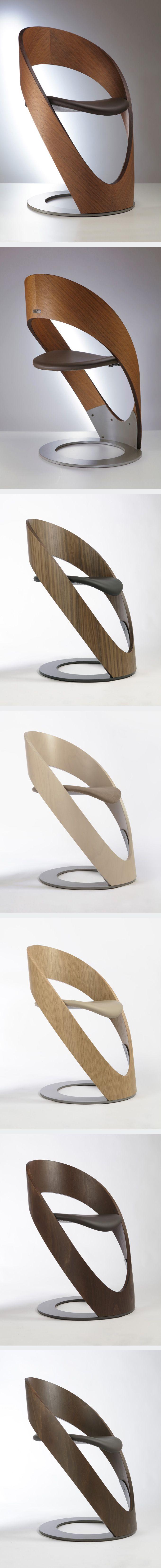 Martz Edition :: Chaise bois assise cuir  #chair #design