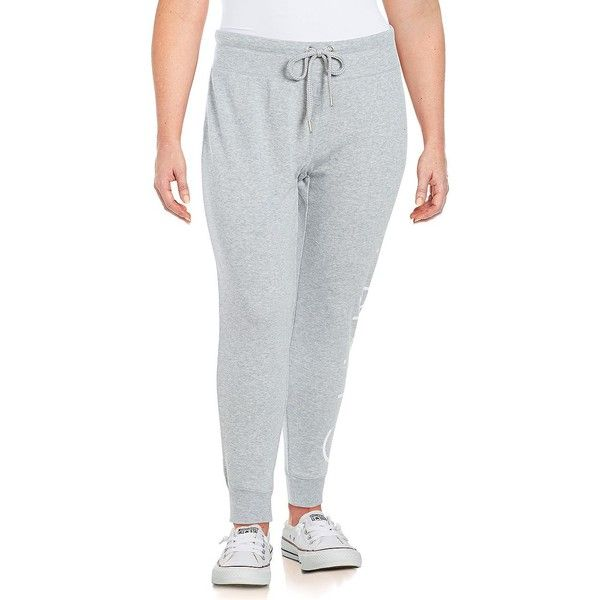 Calvin Klein Performance Plus Women's Monogrammed Sweatpants ($30) ❤ liked on Polyvore featuring plus size women's fashion, plus size clothing, plus size activewear, plus size activewear pants, blue, blue sweat pants, tapered sweatpants, blue sweatpants, calvin klein performance activewear and calvin klein performance sweatpants
