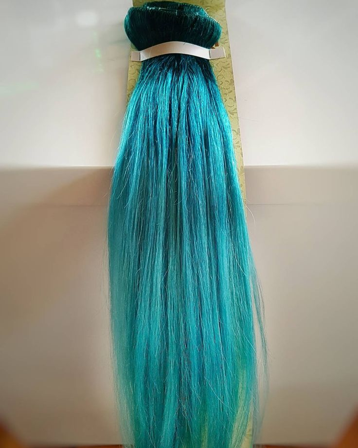 And good to go!!! #turquoisehairdontcare #clipin #hairextensions #one #lucky #lady #Kattygurlhairextensions
